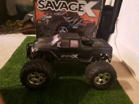Savage X nitro rc truck BARGAIN!!!!