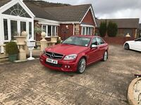 Red Mercedes C Class C63 Lookalike (2009)