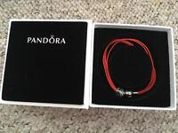 Pandora orange multi strand bracelet