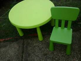 Childrens ikea table set