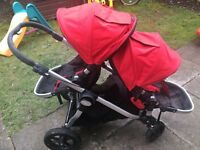 City select double pushchair with maxi cosi adapters