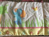 Free unisex baby bumper for cot bed