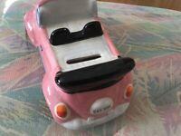 VW car money box (Pink)