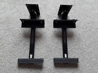 Pair of Used Black AVF Adjustable Speaker Brackets with Swivel/Tilt Capability - Excellent Condition