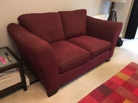 Burgundy 2 Seater sofa - Good condition