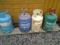 Gas bottles for heaters etc.