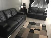3+2 DFS leather sofa very good condition 1yr old