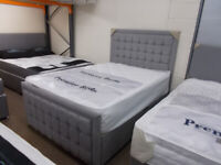 QUALITY 4'6 2 DRAWER DIVAN WITH HEADBOARD AND FOOTBOARD free local delivery 10 miles radius Barn