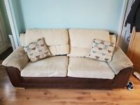 Two seater and 3 seater sofa for sale.