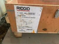 """RIDGID HYDRAULIC PIPE BENDER HB383 UP TO 3"""" WITH ALL FORMERS IN BOX"""
