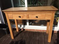 Constance Console table. Solid oak wood