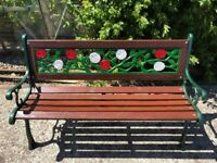 fully refurbished cast iron bench, finished to a high quality