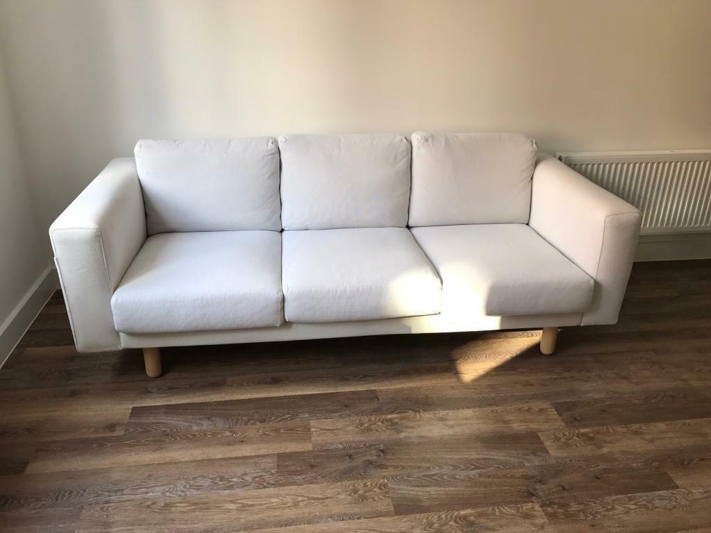 Ikea norsborg 3 seater sofa finnsta white in burwell for White divan chair