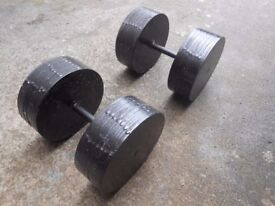 2 x 180lb metal dumbbells Weights - Plymouth