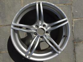 "Single BMW 19"" alloy needs attention"