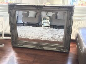 Gallery Harrow Silver Rectangular Mirror
