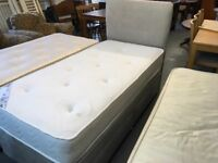 NICE SINGLE DIVAN BED WITH STORAGE DRAWERS AND MATCHING HEADBOARD WITH MEMORY FOAM MATTRESS