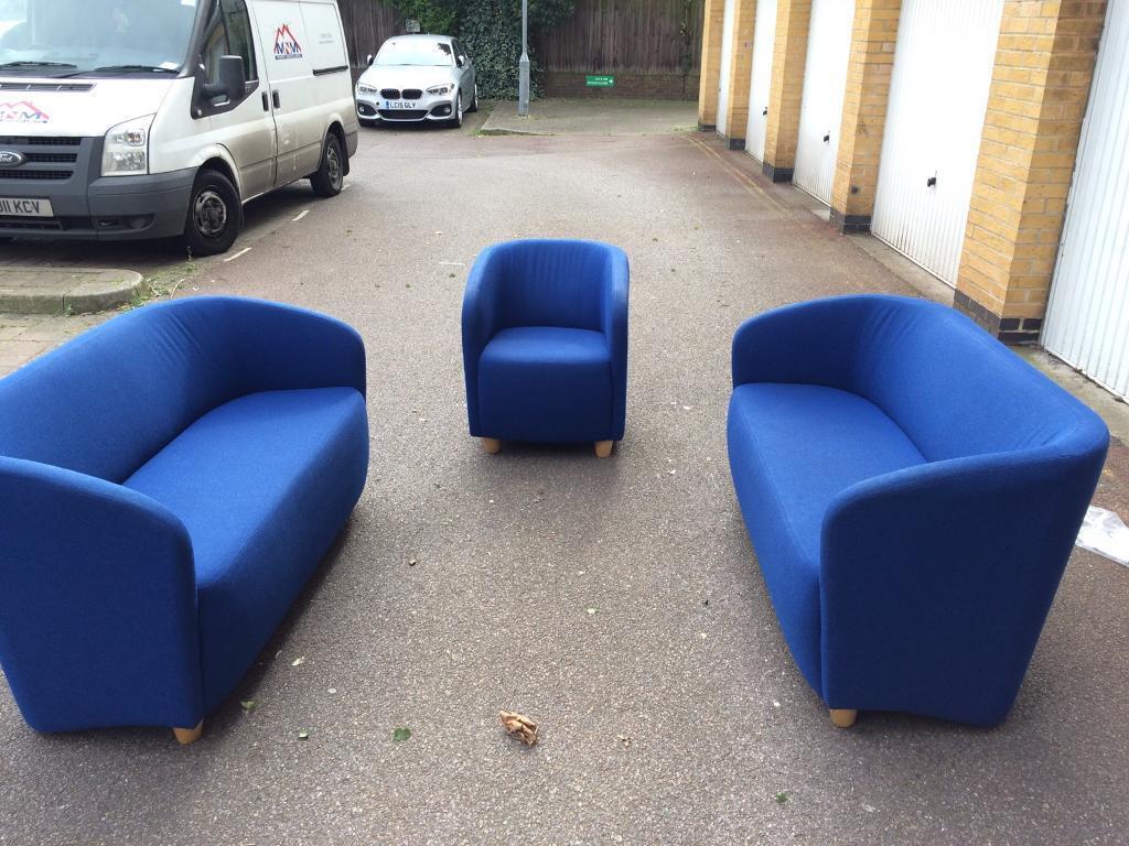 Blue Sofa Set Free London Delivery