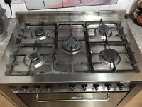 gas cooker, double oven, 5 places