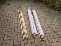 Pair of 7 pole windbreaks,