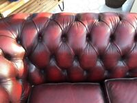 3 seater chesterfield oxblood. A restoration project