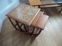 G Plan Fresco Nest of Tiled Teak Tables Coffee Tables Retro Eames Danish Era