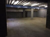 COMMERCAIL WAREHOUSE LOCK UP UNIT FOR RENT TO LET NO RATES
