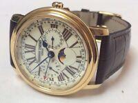 Amazing large Frederique Constant Moonphase chronograph calendar mens watch
