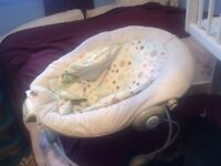 Musical baby bouncy chair