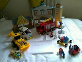 Fireman Sam toy selection and extras.