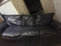 ** 3 BLACK LEATHER SOFAS for sale!!!!!**