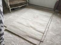 Cream brand new carpet
