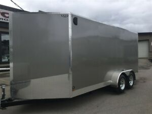 2017 Canadian Trailer Company 7'x16' V-Nose Cargo Trailer Steel