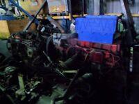 cummings engine breaking injectors,turbo,starter,heads etc