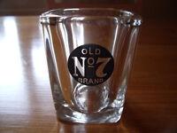 Jack Daniel's Old No. 7 Brand small square shot glass.
