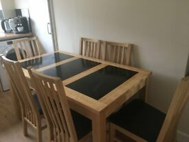 Dinning room table with six chairs