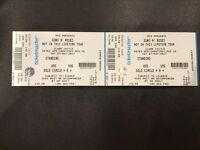 2x Guns n Roses tickets GOLDEN CIRCLE slane castle