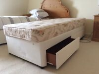 Two divan beds with drawers