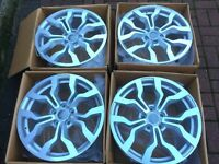 "4 x NEW 18"" AUDI R8 ALLOY WHEELS 5x112 VW GOLF MK5 MK6 AUDI A3 S3 RS3 POLO MERCEDES CLASS W203 W204"