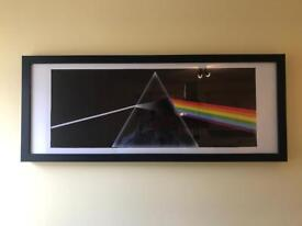 Pink Floyd poster and frame