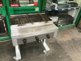 SECOND HAND SERVICED COMMERCIAL CATERING GAS CHARCOAL BBQ KEBAB GRILL RESTAURANT CAFE FISH BAR