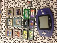 Gameboy advanced and games!