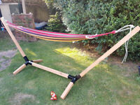Hammock Stand With Summer Multi-Stripe Hammock