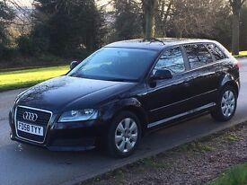 2009 (58) Audi A3 1.9 Tdi E (104bhp) Sportback Black Facelift £30 Yr road tax