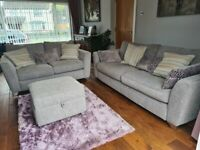 Matching 3 seater sifa+ 2 seater sofa +storage footstool