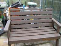 strong timber pic-nic table/bench and seating
