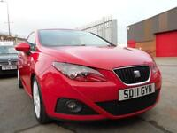 SEAT IBIZA 1.4 CHILL 3d 85 BHP LOWERED SUSPENSION (red) 2011