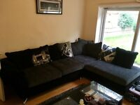 Corner Sofa / couch / chaise / recliner - right hand in charcoal