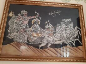 FOR SALE BAUTIFUL KRISHNA ARJUN GEETA PICTURE