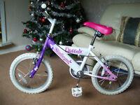 Girls Bike Flutter Sunbeam Age 5-7 Years As New